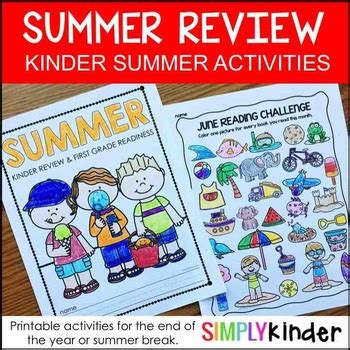 Summer Packet For Kindergarten  Summer Review Packet Kindergarten