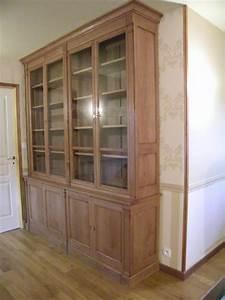 Bibliotheque Chene Clair : agencement bibliotheque directoire en chene massif ~ Voncanada.com Idées de Décoration