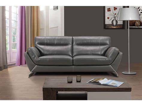 canapé cuir 3 places conforama canapé fixe en cuir 3 places coloris gris conforama