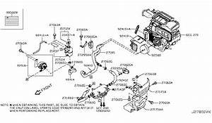 2012 Nissan Leaf Heater Piping Parts Listing