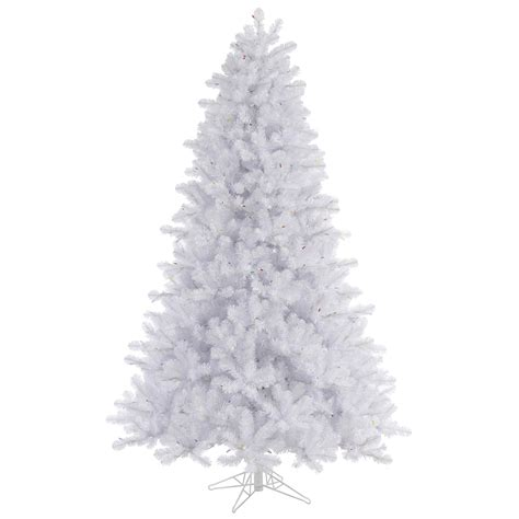 7 5 crystal white pine artificial christmas tree unlit