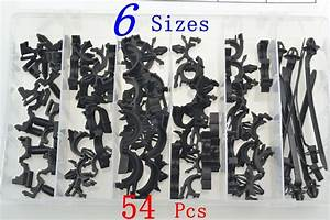 54 Pcs Car Body Wiring Harness Fastener Routing Clips