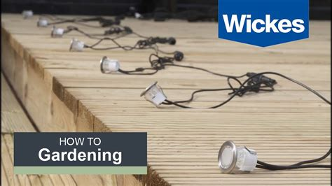 Electrical Wiring Diagram Light Deck by How To Install Deck Lighting With Wickes