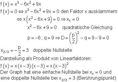 loesungen ganzrationale funktionen vk mathe brinkmann