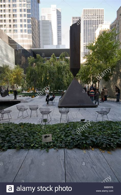 the outdoor space of the museum of modern moma new york usa stock photo royalty free