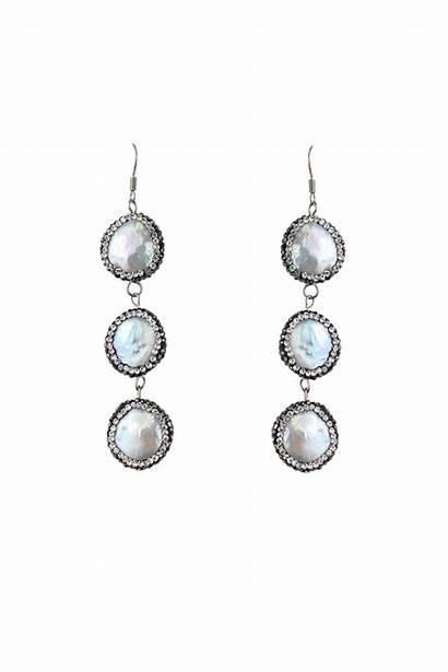 Earrings Dangle Pearl Current Boutique Currentboutique