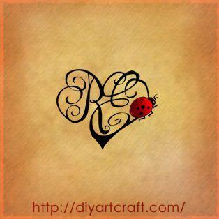 letters heart  ladybug beautiful tattooor