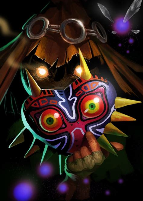 Majoras Mask And Skullkid Legend Of Zelda Pinterest