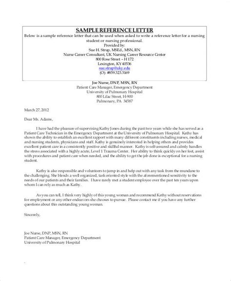 recommendation letter for student sle nursing student reference letter granitestateartsmarket 8450
