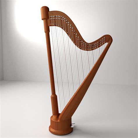 Concert Harp 3d Model 3ds Fbx Blend Dae Cgtrader Com