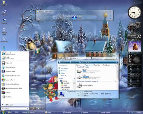 download christmas desktop theme walpaper free winter desktop themes