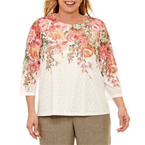 jcpenney plus size blouses alfred dunner plus size shirts tops for jcpenney