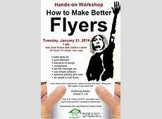 Handson Workshop How to Make Better Flyers Indybay