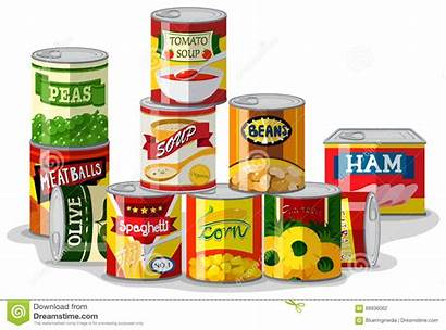 Canned Different Types Clipart Clip Illustration Pile