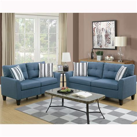 Sofa Set For Home by Venetian Worldwide Sardinia 2 Blue Sofa Set Vene