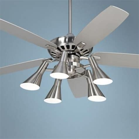 casa vieja ceiling fan light kit 52 quot casa vieja journey nickel light kit ceiling fan