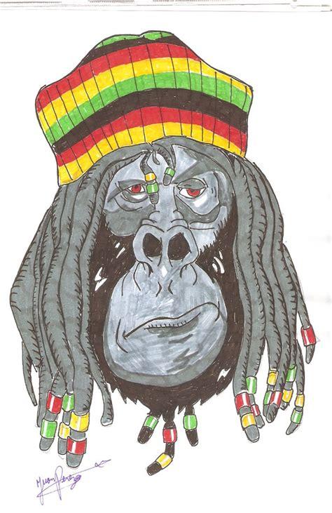 monkey rasta por blade dibujando
