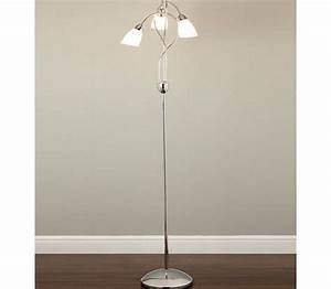 3 light floor lamp With whirly floor lamp chrome
