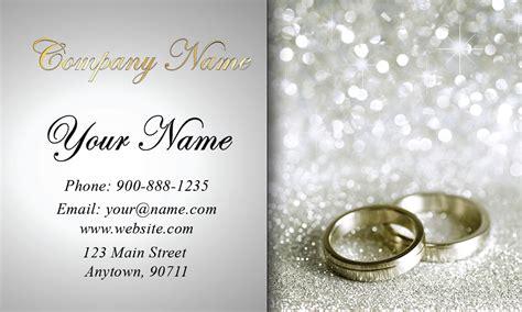 glitter wedding event coordinator business card design