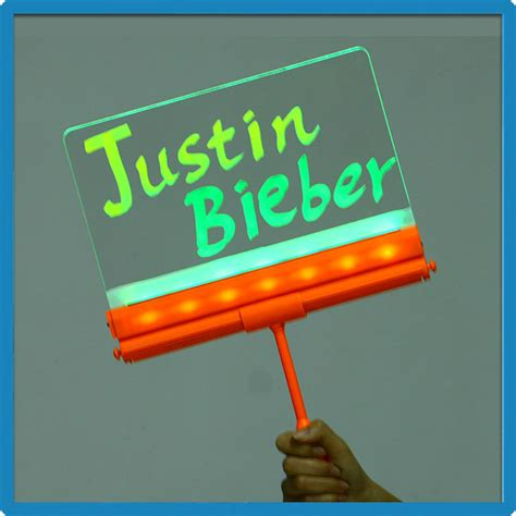 diy light sign board portable no prower led sidewalk board signs abs plastic