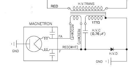 solucionado conexion a capacitor microondas ms194mcd