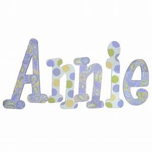 Annie paisley hand painted wall letters rosenberryroomscom for Painted wall letters