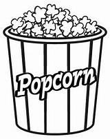 Popcorn Coloring Mitraland sketch template