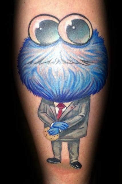 cookie monster tattoo designs  men muppet ink ideas