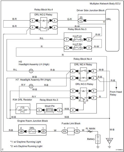 2011 Toyotum Wiring Diagram by Toyota Service Manual Drl Relay Circuit