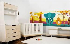 Fresque Murale Papier Peint : papier peint chambre enfant savane d coration murale b b ~ Melissatoandfro.com Idées de Décoration