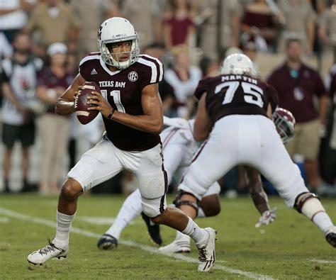 texas  football aggies climb higher  week  sec