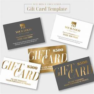 Gold Foil Gift Card Template Sue Bryce Education