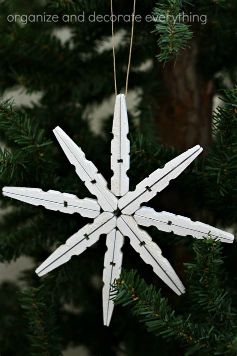 clothespin snowflake ornament tutorial  create