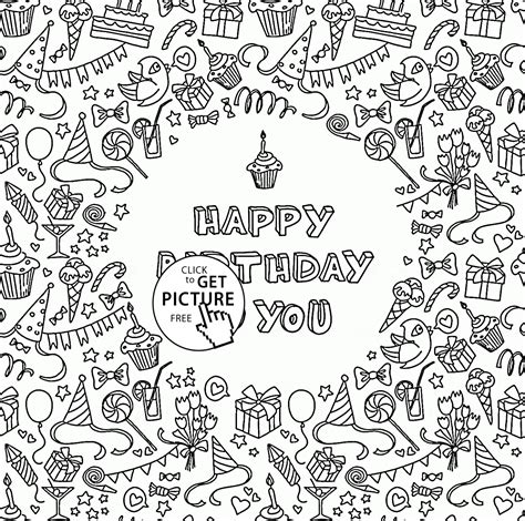 greeting card template page happy birthday to you greeting card coloring page for