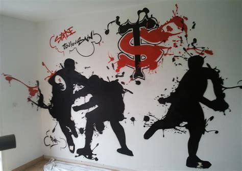 decoration de chambre d ado chambre graff stade toulousain