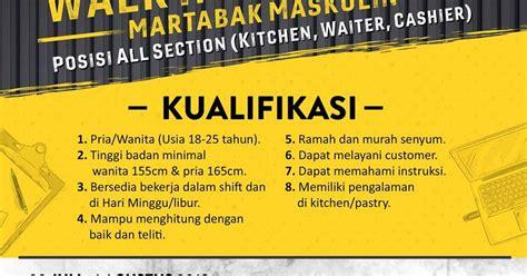 Lowongan kerja pendukung transaksi kas pegadaian. Loker Martabak Gombong : (Lowongan Kerja) Dibutuhkan Karyawan Untuk Jual Martabak ... : Cari ...