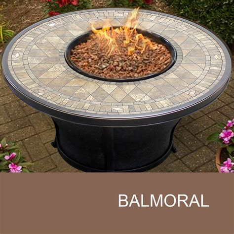 Agio Balmoral 48 Inch Round Porcelain Top Gas Fire Pit Table
