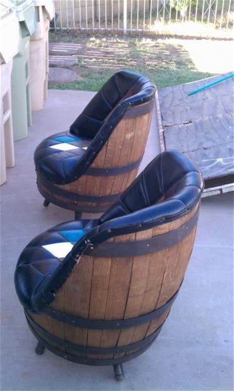 some whiskey barrel chairs to go around that spool table