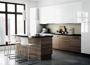 Kitchen wood color with white cabinets Interior Design
