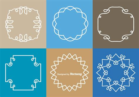 white monograms border vectors   vector art stock graphics images