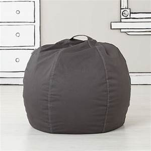30quot bean bag chair cover grey the land of nod With bean bag chairs under 30