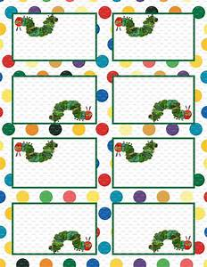 Very Hungry Caterpillar 3 5x2 5 Flat Labels Or Folding