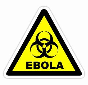 """Ebola Warning Symbol"" Stickers by sweetsixty Redbubble"