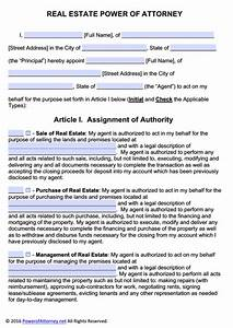 real estate power of attorney form pdf templates power With full power of attorney template