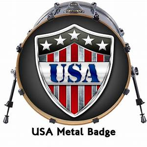 22quot custom bass drum head decals skin wrap kick sticker With bass drum lettering