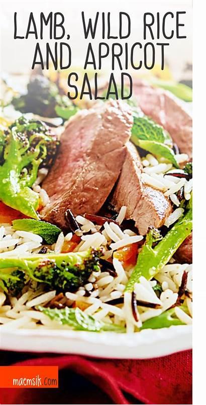 Lamb Rice Wild Salad Apricot Recipe Maemsik