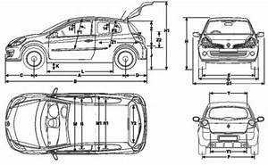 Renault Clio Dimensions : the blueprints cars renault renault ~ Nature-et-papiers.com Idées de Décoration