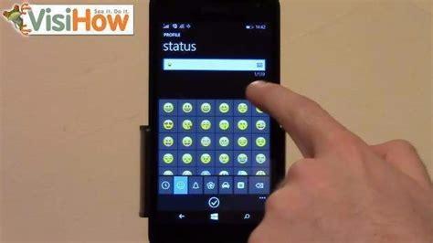 change or update whatsapp status on microsoft lumia 535