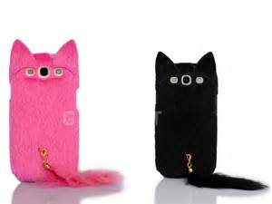 cat phone cases 3d fluffy cat tpu cell phone cover for