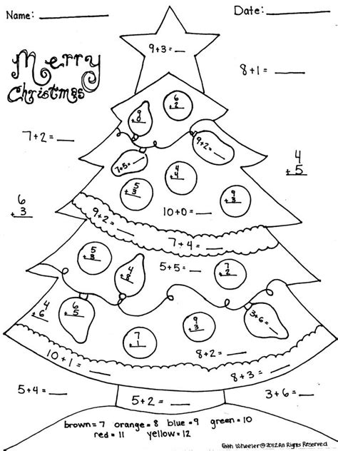 christmas addition worksheet great  morning work